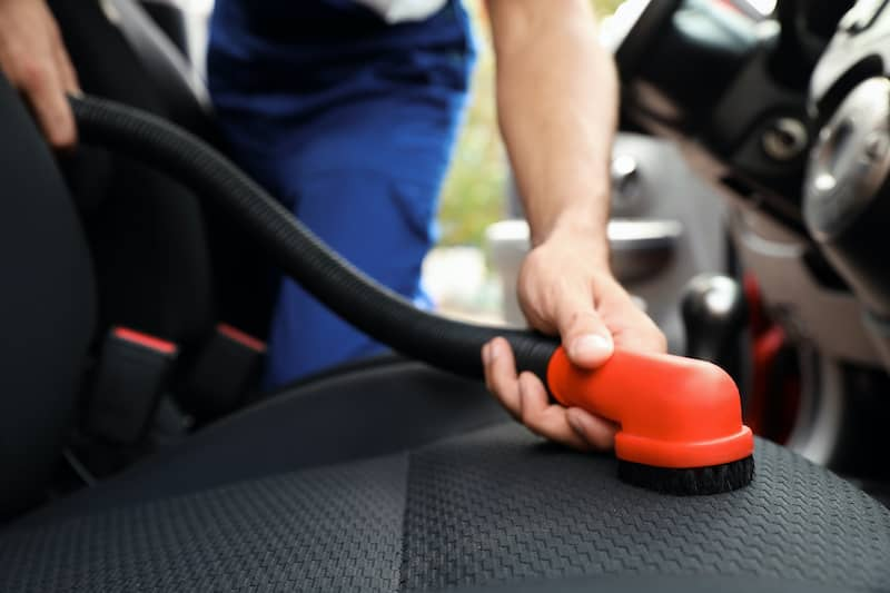 Here's the easiest way to clean your car's upholstery